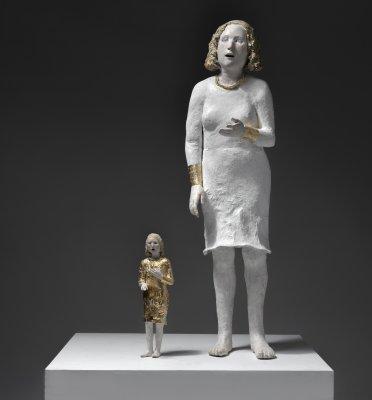 grande-et-petite-chanteuse-102-et-38-cm-papier-mache