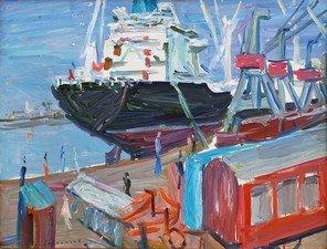 Le cargo a Dunkerque