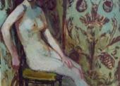 KLEIN N°101- Nu assis devant le paravent - 1948