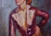 KLEIN N°179 Emy ves te violette 1949 58x50