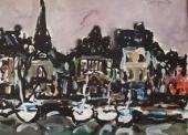 HONFLEUR  quai St Etienne la nuit,