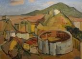 GUEGAN N°165 Arène, Malaga 1952 HSP 50X61
