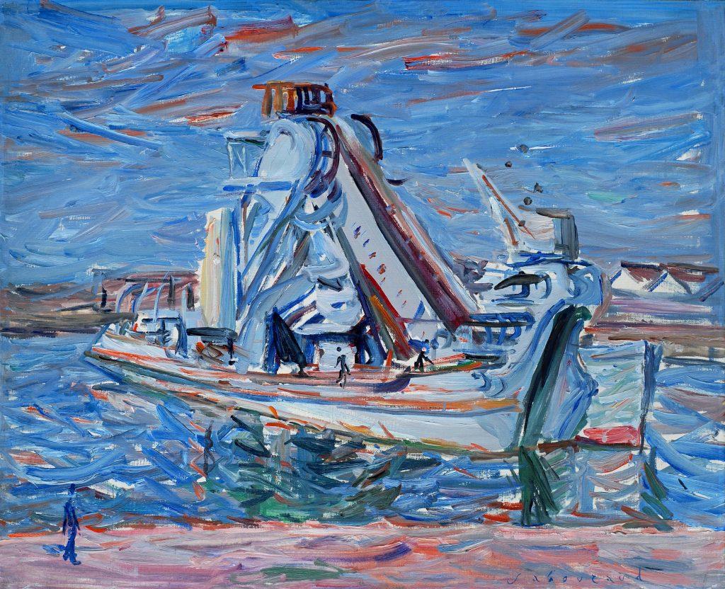huile sur toile d'emile sabouraud représenté par la galerie danielle bourdette gorzkowski à honfleur