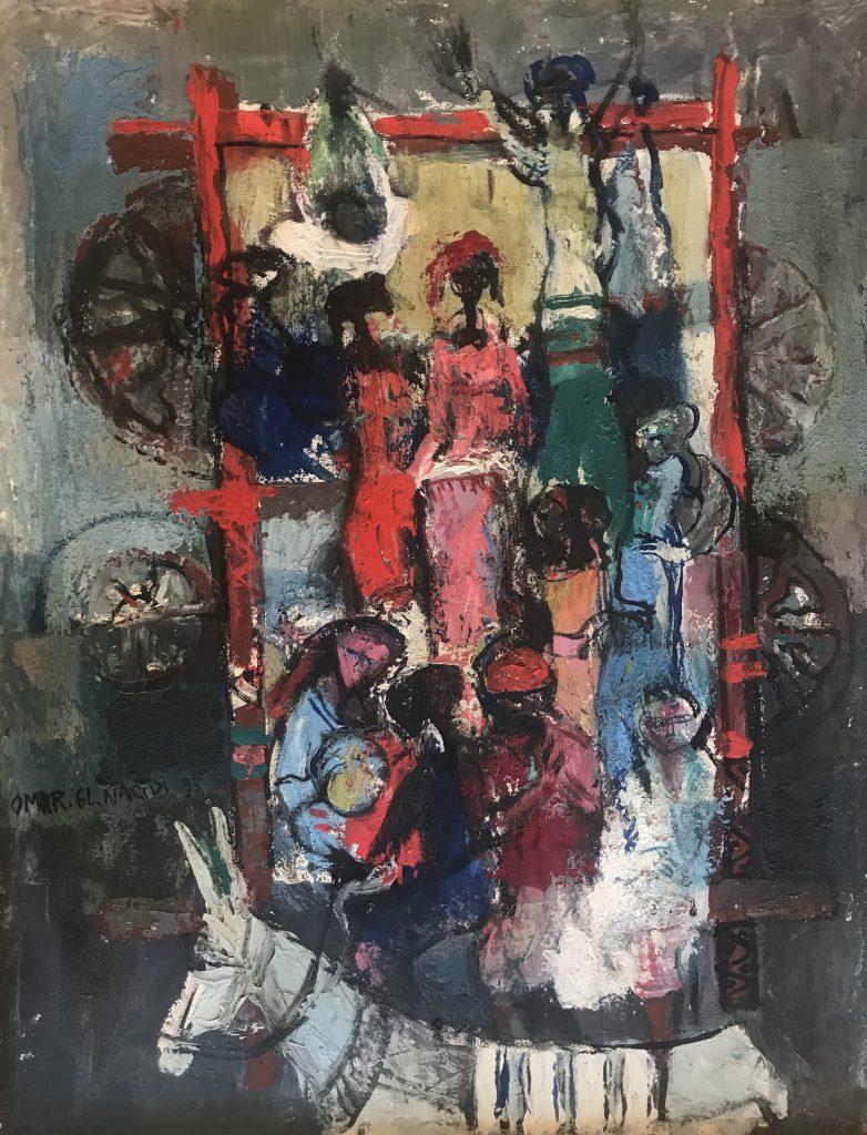Omar El Nagdi représenté par la Galerie Danielle Bourdette Gorzkowski à honfleur