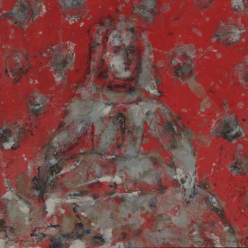 """menina roja""/100x100cm/2018/Alexis Gorodine©"