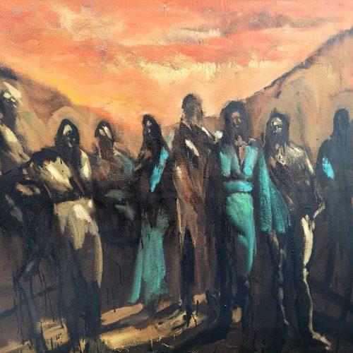 David Daoud représenté par la galerie Danielle Bourdette Gorzkowski à Honfleur, ici dans son atelier