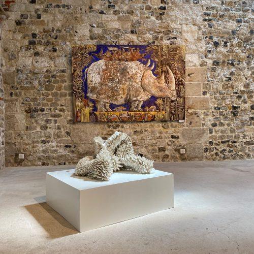 exposition bénédicte vallet et Christophe Ronel à la galerie Danielle Bourdette de honfleur